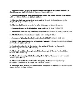 """Jack London's """"The Call of the Wild"""" Ch. 3 Quiz (w/ Answer Key)"""