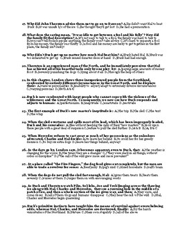 Jack London's The Call of the Wild Ch. 5-6  Quiz (w/ Answer Key)