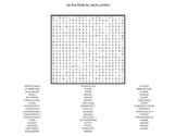 """Jack London's """"Up the Slide"""" (Very Difficult) Word Search"""