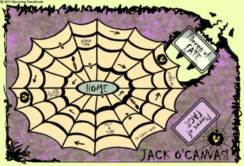 Jack O'Canvas Halloween Board Game
