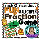 Jack O'Fractions - Halloween Jack O'Lantern Themed Game Board Set for Fractions
