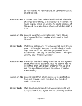 Jack O Lantern A.K.A. The Legend of Stingy Jack - Haunted Reader's Theater