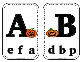 Jack-O-Lantern ABC Clothespin Match