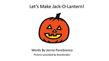 Jack-O-Lantern Adapted Book