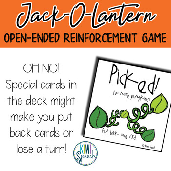 Jack-O-Lantern Builder: Open Ended Game: Great for Speech and Language