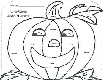 Jack-O-Lantern By: COLOR WORDS