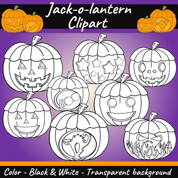 Jack-O-Lantern Clipart FREEBIE - HAPPY HALLOWEEN!
