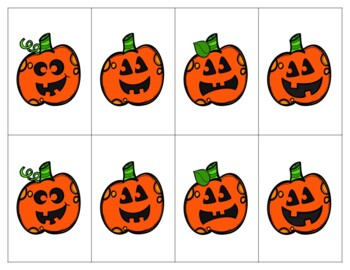 Jack-O-Lantern Describing Matching Game