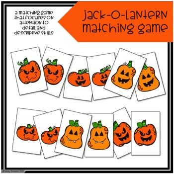 Jack-O-Lantern Describing Matching Game