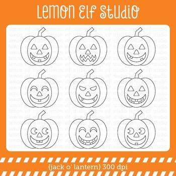 Jack O' Lantern-Digital Stamp (LES.DS45)