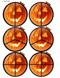 Jack-O-Lantern Fractions Cut and Paste for Autism