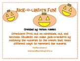 Jack-O-Lantern Fun: Showing Different Ways that Numbers Ca