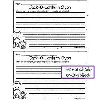 Jack-O-Lantern Halloween Glyph Freebie!