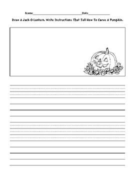Jack-O-Lantern Informative Writing