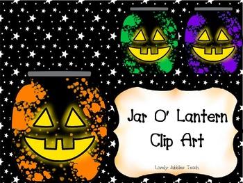 Jack O' Lantern Jars Clip Art