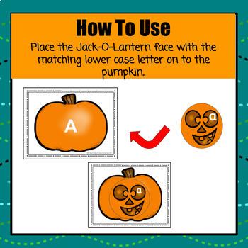 Jack-O-Lantern Letter Match - S