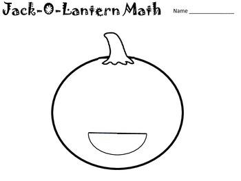 Jack-O-Lantern Math Multiplying Fractions