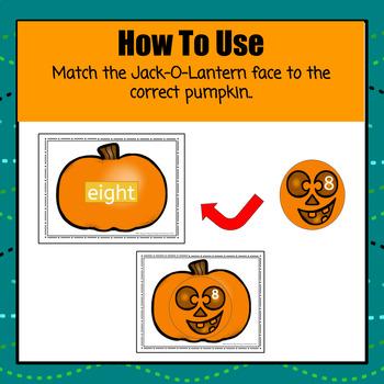 Jack-O-Lantern Number Match - S