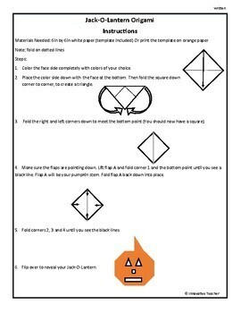 Jack-O-Lantern Origami