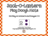 Jack-O-Lantern Play Dough Mats Images and Numbers 1-5