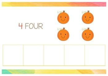 Jack O' Lantern Playdough Mats - Numbers 1-5