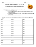 Jack-O-Lantern Project for Algebra 2
