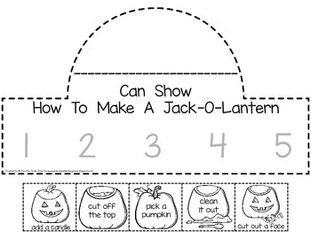 Jack-O-Lantern Sequencing Crown PLUS Cards and Printable