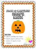 Jack-O-Lantern Shape Math