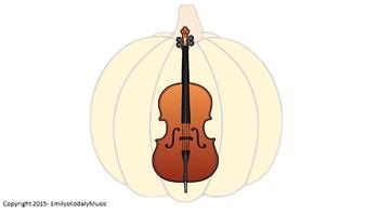 Jack-O-Lantern Stack- Music Symbols and Orchestral Instruments Bundle