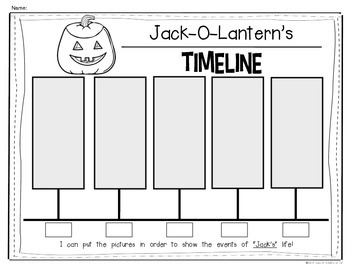 Jack-O-Lantern Timeline for {Kindergarten and First Grade} Social Studies