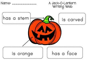 Jack-O-Lantern Writing