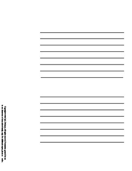 Jack-O-Lantern Writing Card