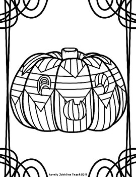 Jack O' Lantern and Pumpkin Color Pages
