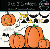 Jack O' Lanterns - Digital Clipart