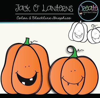 Jack O' Lanterns {Freebie} - Digital Clipart