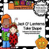 Jack O'Lanterns Take Shape:  NO PREP Halloween Spin and Cover Shape Game
