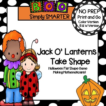 Jack O'Lanterns Take Shape:  NO PREP Halloween Spin and Cover Shape Game