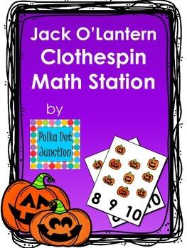 Jack O'Lantern Clothespin Math Station