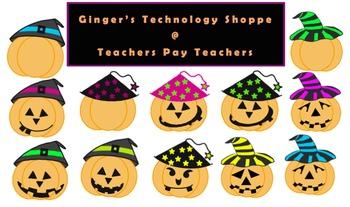 Jack O'Lantern * Pumpkin * Halloween Clipart