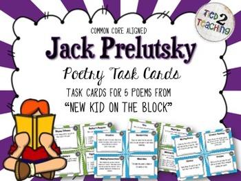 Jack Prelutsky Poetry Task Cards (CCSS) - 80 TASK CARDS!