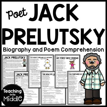 Jack Prelutsky biography, 4 poems, reading comprehension p