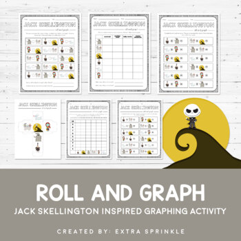 Disney Inspired Jack Skellington Roll and Graph Activity a