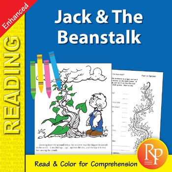 Jack & The Beanstalk: Read & Color - Enhanced