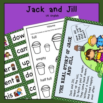 Jack and Jill Nursery Rhyme Pack AUS UK
