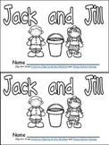 Jack and Jill Book, Poster, & MORE - Preschool Kindergarten Nursery Rhymes