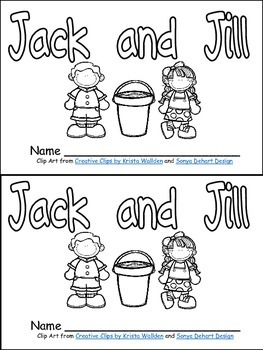 Jack and Jill Book, Poster, & MORE - Preschool Kindergarte
