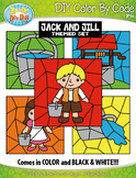 Jack and Jill Color By Code Clipart {Zip-A-Dee-Doo-Dah Designs}