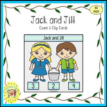 Jack and Jill Count and Clip Task Cards