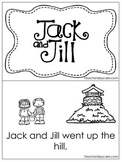 Jack and Jill Early Emergent Reader. Pre-K and Kindergarten Reading.