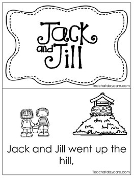 Jack and Jill Early Emergent Reader. Pre-K and Kindergarte